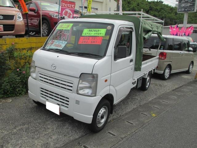 沖縄の中古車 マツダ スクラムトラック 車両価格 54万円 リ済込 2012(平成24)年 8.8万km ホワイト
