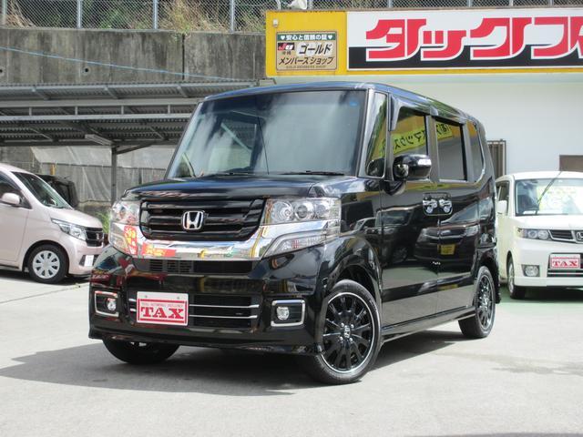 沖縄の中古車 ホンダ N-BOXカスタム 車両価格 154万円 リ済込 2016(平成28)年 4.8万km ブラック