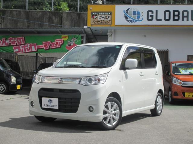 沖縄の中古車 スズキ ワゴンRスティングレー 車両価格 74万円 リ済込 2013(平成25)年 7.9万km パール
