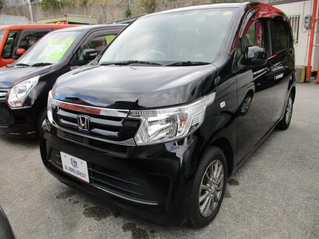 沖縄の中古車 ホンダ N-WGN 車両価格 104万円 リ済込 2017(平成29)年 5.0万km ブラック