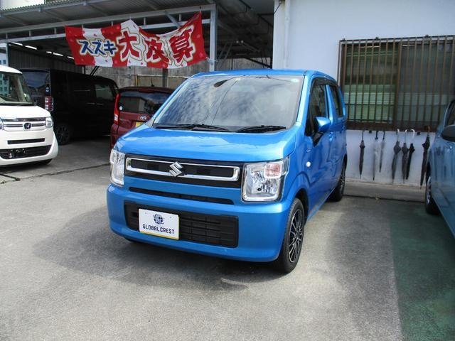 沖縄の中古車 スズキ ワゴンR 車両価格 110万円 リ済込 2020(令和2)年 2.4万km ブルー