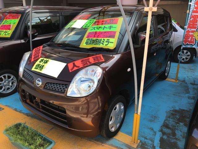 沖縄の中古車 日産 モコ 車両価格 35万円 リ済別 2009(平成21)年 10.4万km ブラウン