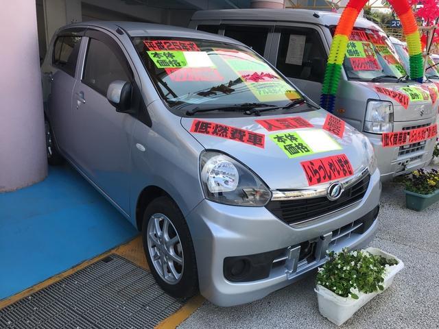 沖縄の中古車 ダイハツ ミライース 車両価格 45万円 リ済別 2013(平成25)年 7.9万km シルバー