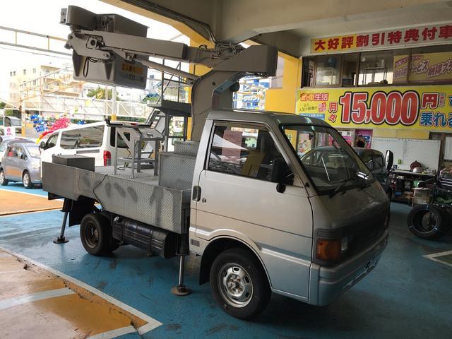 沖縄県浦添市の中古車ならバネットトラック 高所作業車 トラック MT 3名乗り シルバー