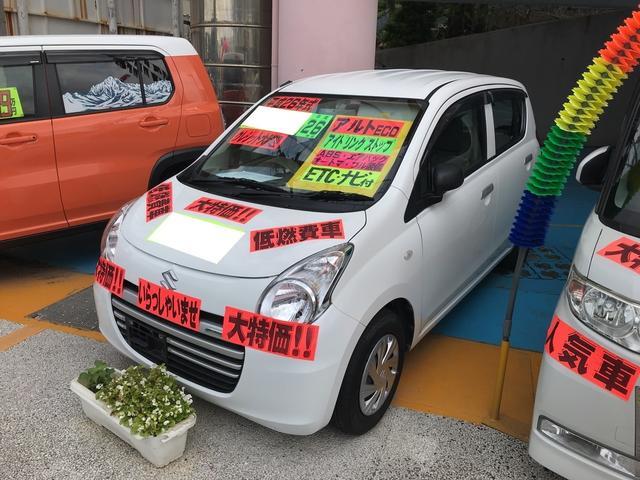 沖縄の中古車 スズキ アルトエコ 車両価格 39万円 リ済別 2014(平成26)年 7.5万km シロ
