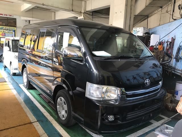 沖縄県の中古車ならハイエースワゴン GL 10名乗り ETC AT スライドドア オーディオ付