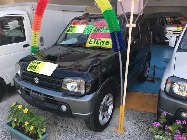 沖縄の中古車 スズキ ジムニー 車両価格 69万円 リ済別 2008(平成20)年 11.2万km 黒ツートン