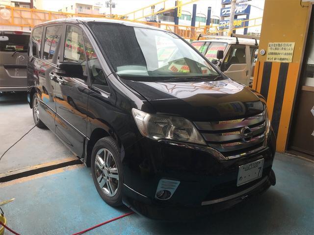 沖縄の中古車 日産 セレナ 車両価格 75万円 リ済別 2012(平成24)年 10.9万km クロ