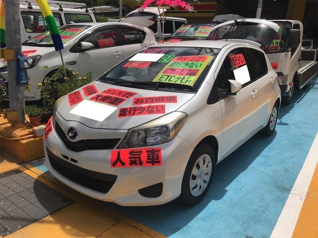 沖縄の中古車 トヨタ ヴィッツ 車両価格 39万円 リ済別 2012(平成24)年 3.0万km シルバー