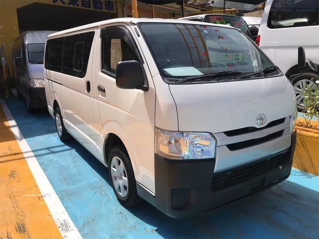 沖縄県浦添市の中古車ならレジアスエースバン ロングジャストローDX スライドドア 6名乗り AC オーディオ付