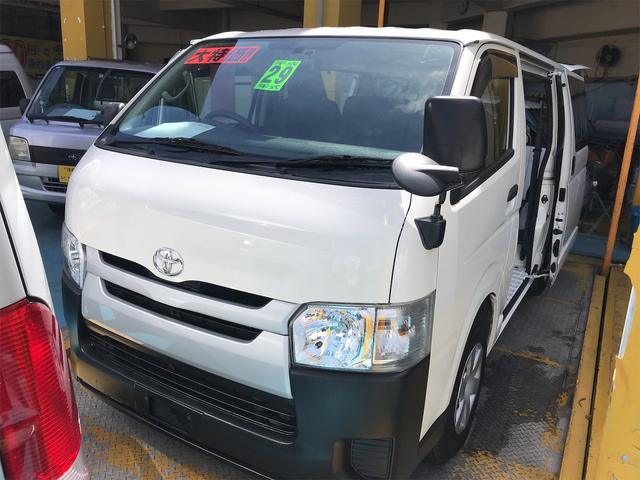沖縄県浦添市の中古車ならハイエースバン ロングDX 両側スライドドア 6名乗り AC AT