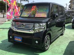 沖縄の中古車 ホンダ N BOXカスタム 車両価格 97万円 リ済込 平成25年 6.3万K ブラックM