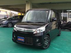 沖縄の中古車 スズキ スペーシアカスタム 車両価格 94万円 リ済込 平成26年 7.2万K ブラックM