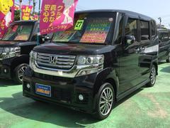 沖縄の中古車 ホンダ N BOXカスタム 車両価格 118万円 リ済込 平成27年 6.0万K ブラックM