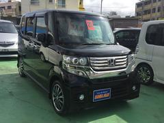 沖縄の中古車 ホンダ N BOXカスタム 車両価格 108万円 リ済込 平成25年 8.2万K ブラックM
