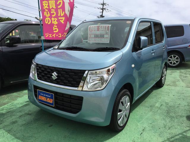 沖縄の中古車 スズキ ワゴンR 車両価格 64万円 リ済込 平成27年 6.4万km ライトブルーM