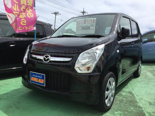沖縄の中古車 マツダ フレア 車両価格 56万円 リ済込 平成25年 5.3万km ブラックM