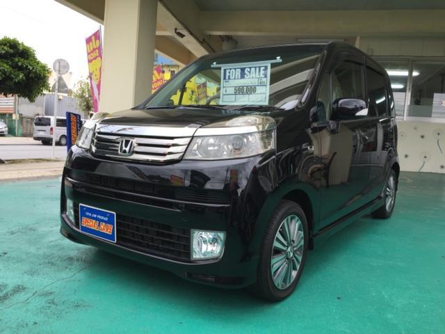 沖縄の中古車 ホンダ ライフ 車両価格 55万円 リ済込 平成23年 8.9万km ブラックM
