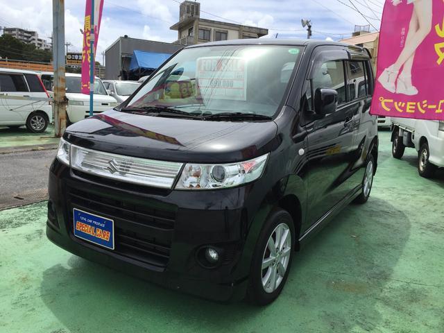 沖縄の中古車 スズキ ワゴンRスティングレー 車両価格 64万円 リ済込 平成23年 7.7万km ブラックM