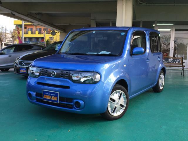 沖縄の中古車 日産 キューブ 車両価格 79万円 リ済込 平成26年 2.9万km ブルーM