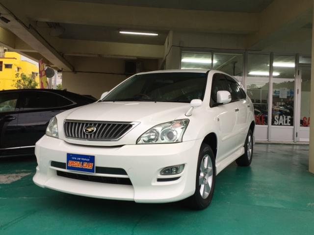 沖縄の中古車 トヨタ ハリアー 車両価格 98万円 リ済込 平成20年 9.7万km パールホワイト