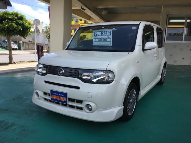 沖縄の中古車 日産 キューブ 車両価格 59万円 リ済込 平成22年 7.7万km パールホワイト