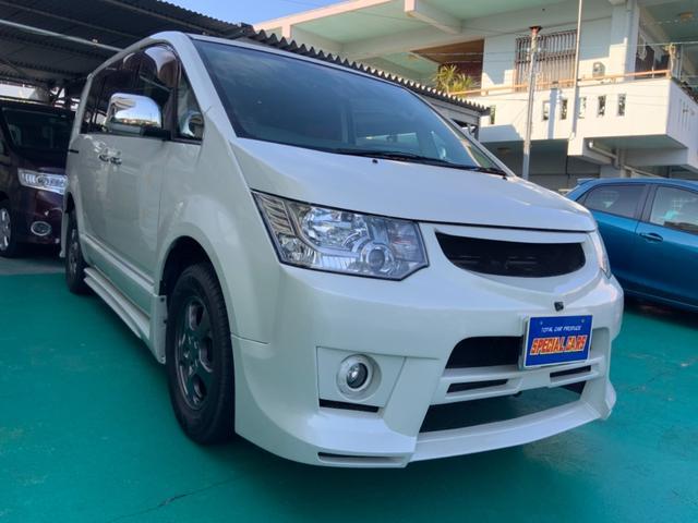 沖縄の中古車 三菱 デリカD:5 車両価格 89万円 リ済込 平成20年 9.8万km パールホワイト