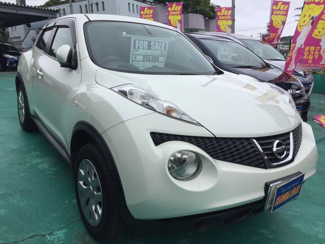 沖縄の中古車 日産 ジューク 車両価格 74万円 リ済込 2011(平成23)年 7.5万km ホワイト