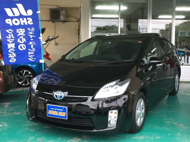 沖縄の中古車 トヨタ プリウス 車両価格 89万円 リ済込 2011(平成23)年 5.7万km ブラック