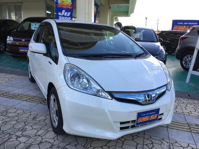 沖縄の中古車 ホンダ フィットハイブリッド 車両価格 69万円 リ済込 2012(平成24)年 5.6万km パールホワイト