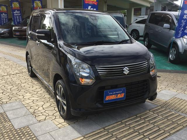 沖縄の中古車 スズキ ワゴンR 車両価格 56万円 リ済込 2013(平成25)年 9.5万km ブラックM