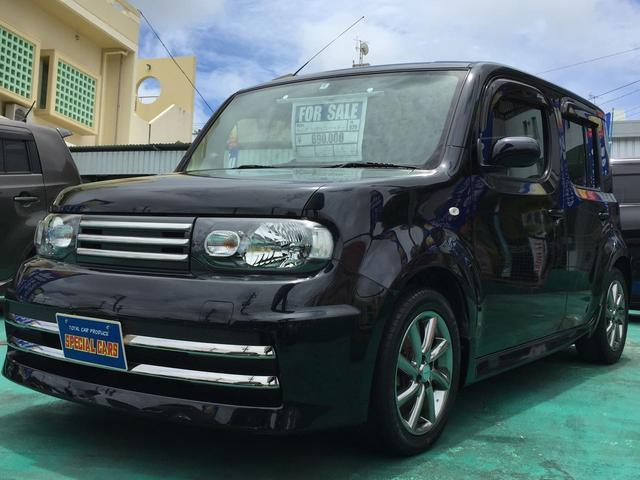 沖縄の中古車 日産 キューブ 車両価格 64万円 リ済込 2014(平成26)年 8.2万km ブラックM