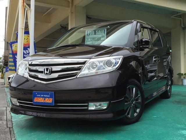 沖縄の中古車 ホンダ エリシオンプレステージ 車両価格 109万円 リ済込 2012(平成24)年 9.5万km ダークパープルM