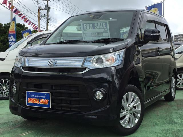 沖縄の中古車 スズキ ワゴンRスティングレー 車両価格 74万円 リ済込 2015(平成27)年 7.2万km ブラックM