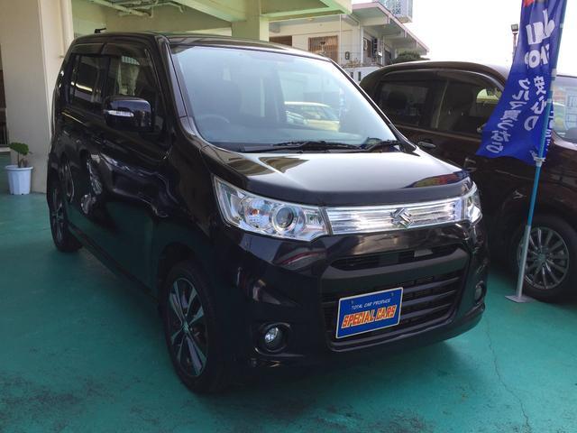 沖縄の中古車 スズキ ワゴンRスティングレー 車両価格 55万円 リ済込 2012(平成24)年 9.4万km ブラックM