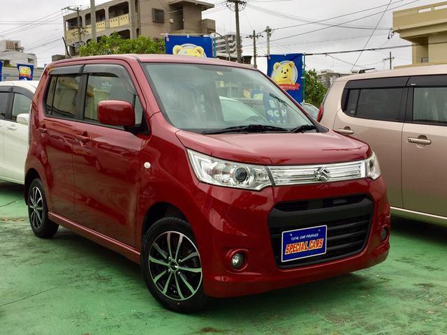 沖縄の中古車 スズキ ワゴンRスティングレー 車両価格 57万円 リ済込 2013(平成25)年 9.9万km レッドM