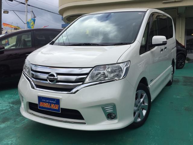 沖縄の中古車 日産 セレナ 車両価格 119万円 リ済込 2013(平成25)年 8.1万km パールホワイト