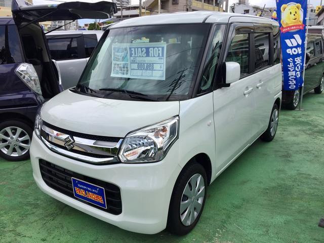 沖縄の中古車 スズキ スペーシア 車両価格 85万円 リ済込 2016(平成28)年 5.0万km パールホワイト