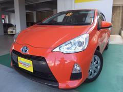 沖縄の中古車 トヨタ アクア 車両価格 88万円 リ済込 平成24年 8.4万K オレンジ
