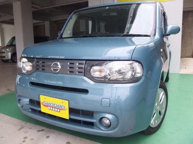 沖縄の中古車 日産 キューブ 車両価格 59万円 リ済込 平成24年 7.6万km ブルー