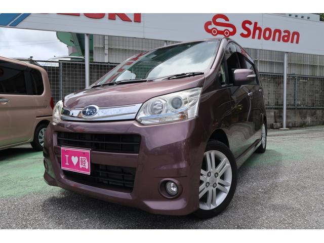 沖縄の中古車 スバル ステラ 車両価格 74万円 リ済込 平成23年 6.8万km ブラウンM