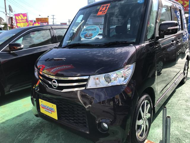 沖縄の中古車 日産 ルークス 車両価格 77万円 リ済込 平成23年 7.8万km ワインM