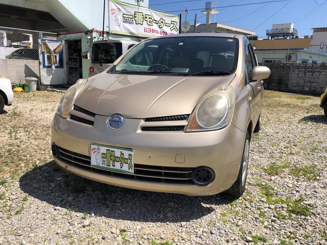 沖縄の中古車 日産 ノート 車両価格 18万円 リ済込 2005(平成17)年 7.9万km ゴールドM