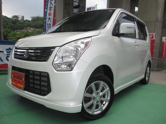 沖縄の中古車 スズキ ワゴンR 車両価格 50万円 リ済込 平成24年 8.0万km パールホワイト