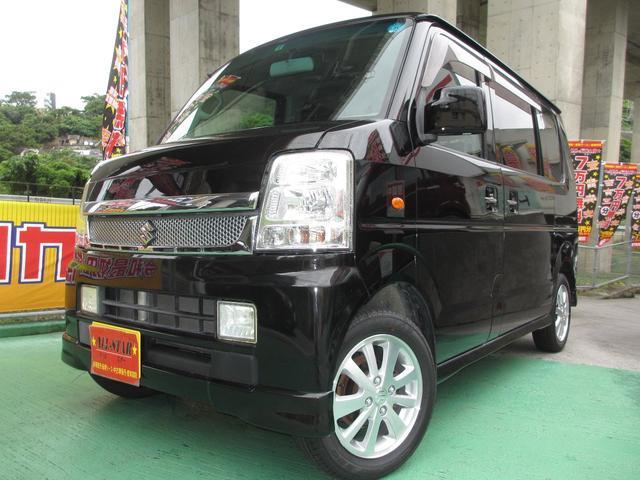 沖縄の中古車 スズキ エブリイワゴン 車両価格 47.8万円 リ済込 2009(平成21)年 13.5万km ブラックM