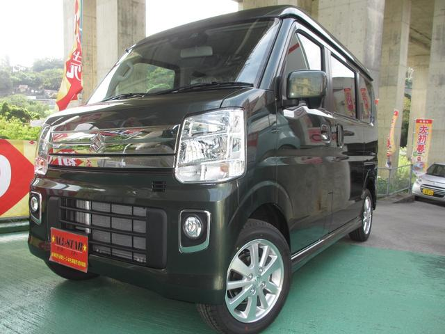 沖縄の中古車 スズキ エブリイワゴン 車両価格 155.8万円 リ未 新車  DグリーンM