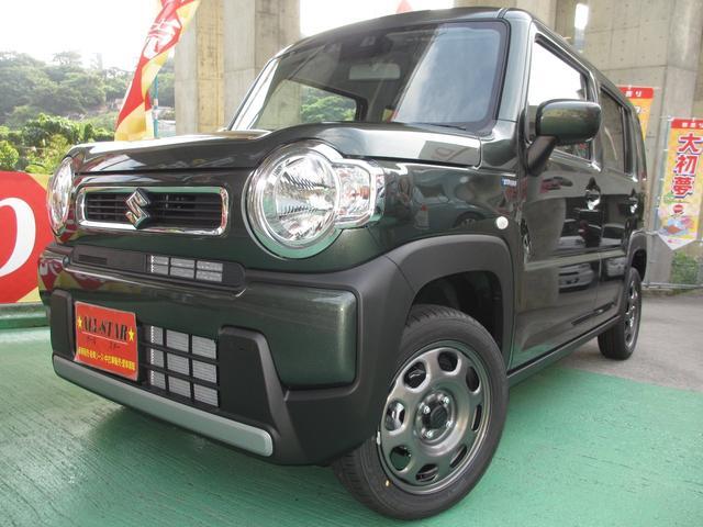沖縄の中古車 スズキ ハスラー 車両価格 136.5万円 リ未 新車  DグリーンM