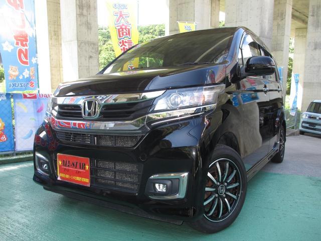 沖縄の中古車 ホンダ N-WGNカスタム 車両価格 69.9万円 リ済込 2016(平成28)年 9.8万km ブラックM