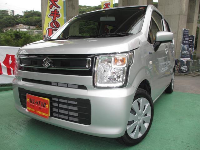 沖縄の中古車 スズキ ワゴンR 車両価格 98万円 リ済込 2019(令和1)年 0.8万km シルバーM
