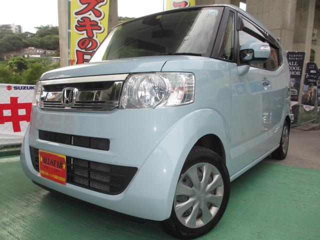 沖縄の中古車 ホンダ N-BOXスラッシュ 車両価格 143.4万円 リ済込 2015(平成27)年 2.4万km ライトブルーM